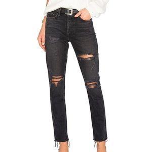 GRLFRND Black Ripped Highrise Jeans